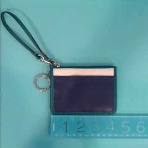 Coach Leather Cardholder/Wallet with Keychain